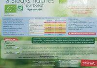 Steak Haché 10% - Informations nutritionnelles - fr