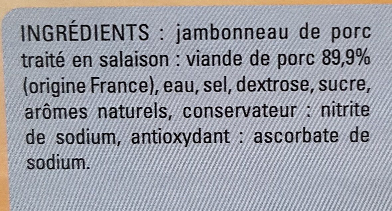 Jambonneau - Ingredients