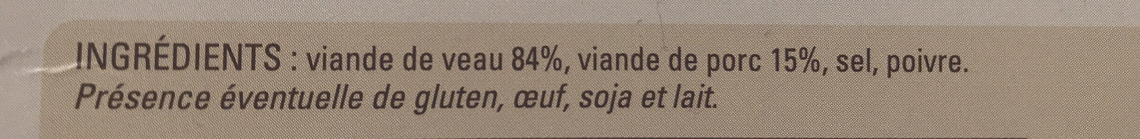 8 paupiettes de veau - Ingrediënten - fr