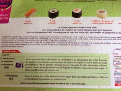 Sushi - Ingrédients - fr