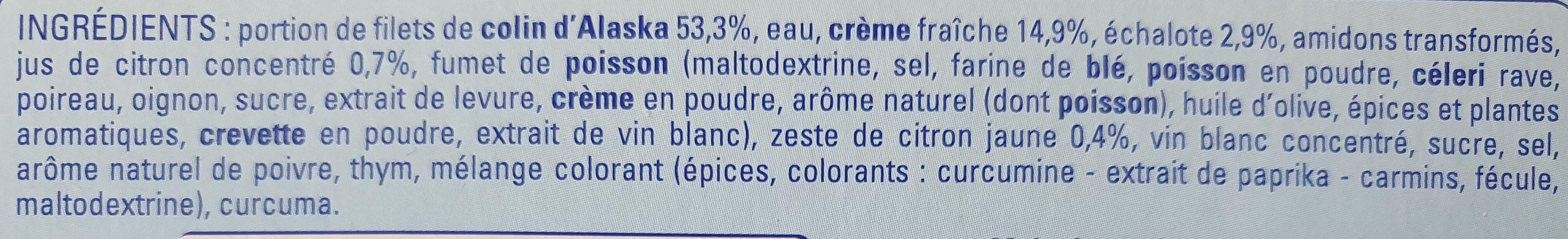 Colin d'Alaska sauce citron - Ingredients - fr