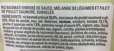 Poulet, Riz Basmati, Tomates et Pointes d'asperges - Ingredients
