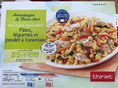 Pâtes legumes et poulet à l'orientale - Produit - fr