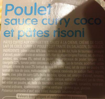 Poulet sauce curry coco et pâtes risoni - Ingrédients - fr