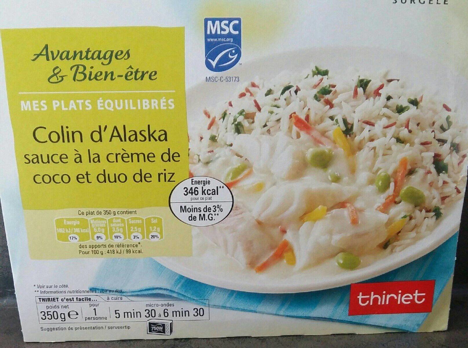Colin d'Alaska sauce crème de coco et duo de riz - Prodotto - fr