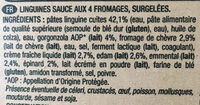 Linguines aux 4 fromages - Ingredients