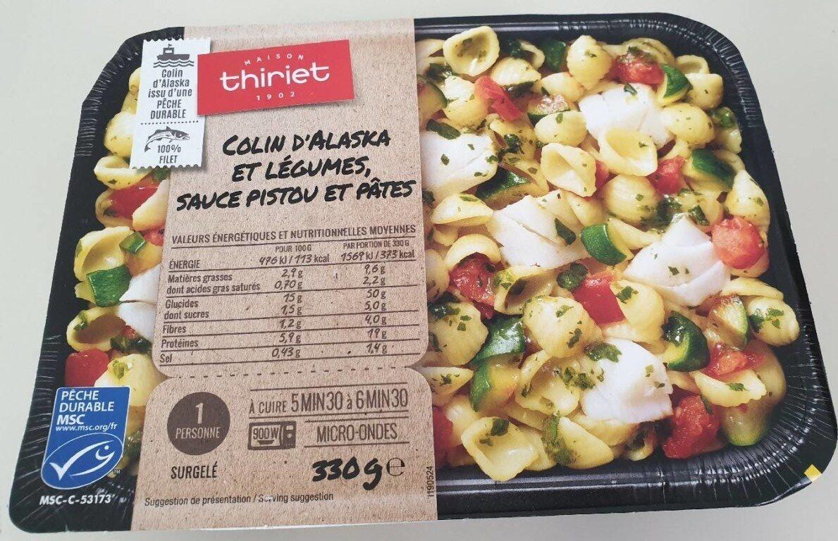 Colin d'Alaska et légumes, sauce pistou et pâtes - Produit
