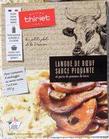 Langue de bœuf sauce piquante & purée de pommes de terre - Produit - fr