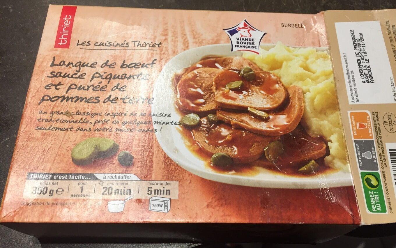 Langue de boeuf, sauce piquante et purée de pomme de terre - Produit