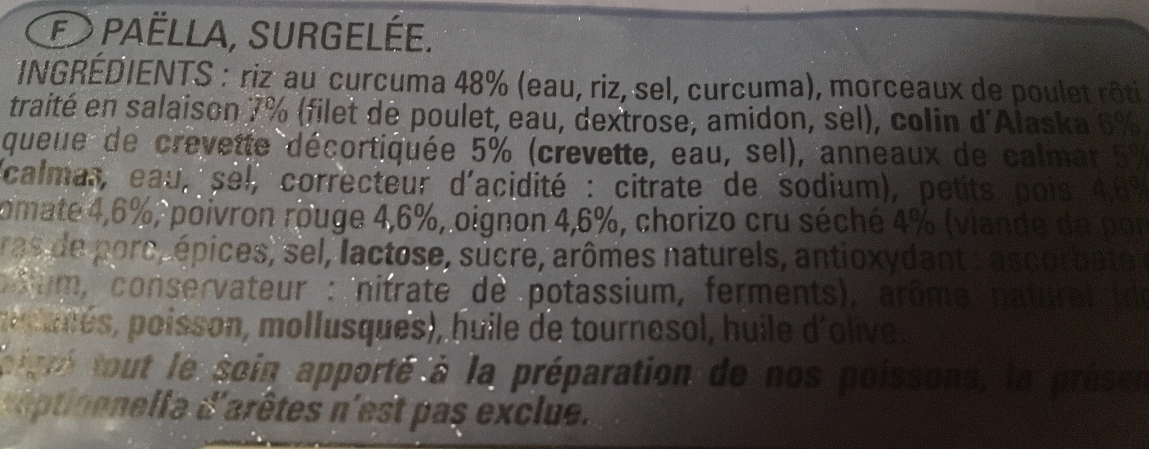 Paella - Ingredienti - fr