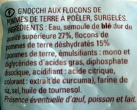 Gnocchi a poeler - Ingredients - fr