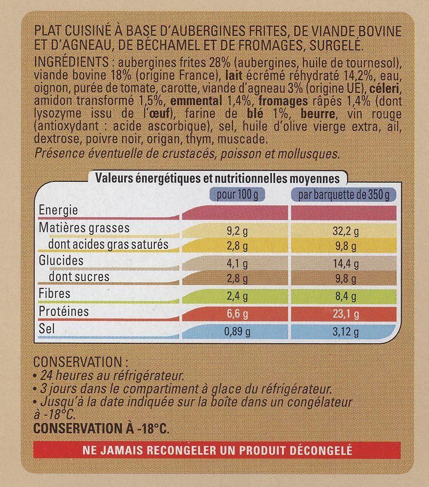 Moussaka - Ingredients