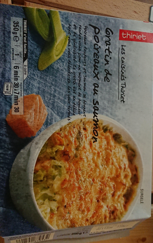 Gratin de poireaux au saumon - Produit