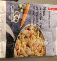 Pâtes au colin d'alaska et fruits de mer sauce crustacés - Produit - fr