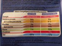 Pâtes au colin d'alaska et fruits de mer sauce crustacés - Informations nutritionnelles - fr