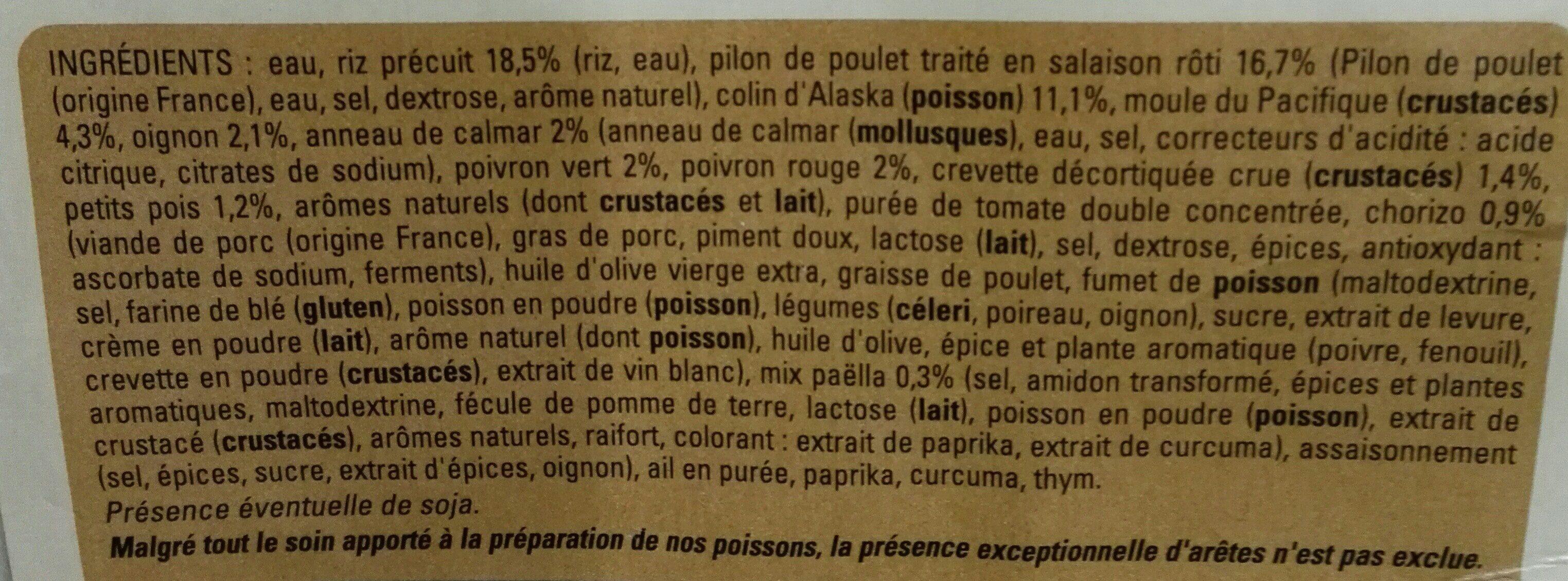 Paella royale - Ingredients - fr
