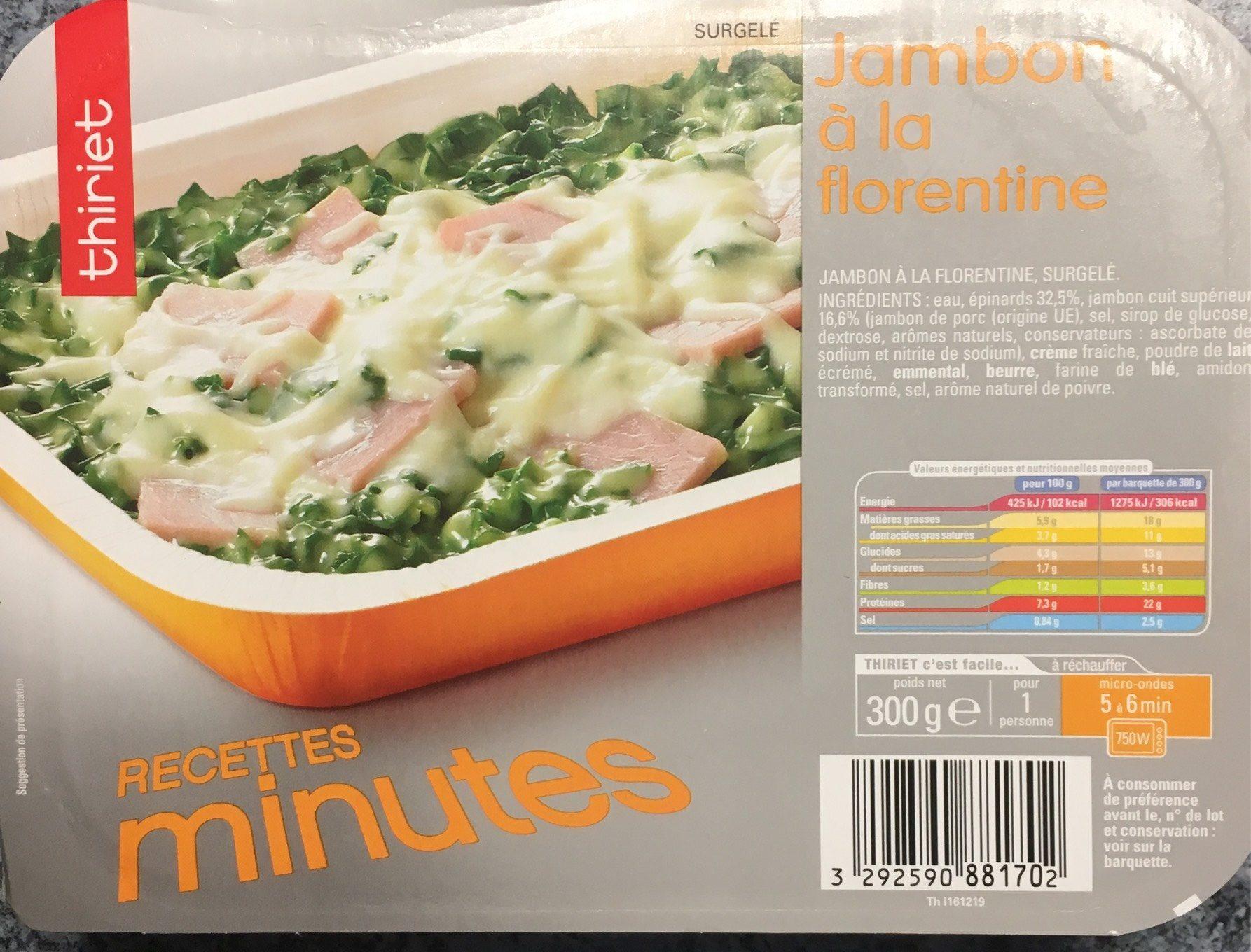 Jambon à la Florentine 1 personne - Product - fr