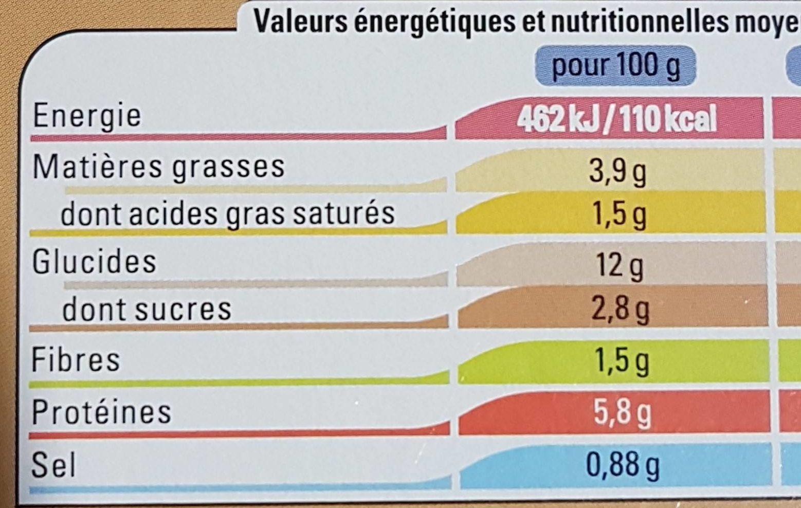 Lasagnes à la Bolognaise - Voedingswaarden - fr