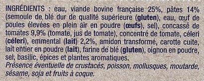 Lasagnes à la bolognaise - Ingrediënten - fr