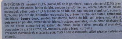 Lasagnes saumon epinards - Ingrediënten