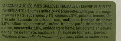 Lasagnes aux Légumes Grillés et Chèvre - Ingrediënten - fr