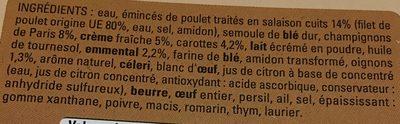 Lasagnes au Poulet et Champignons - Ingredients - fr