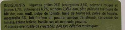Lasagnes aux légumes grillés - Ingrédients - fr
