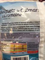 Beignets de calamars à la romaine - Ingrediënten - fr