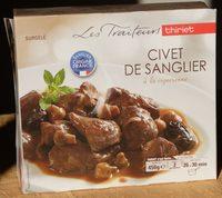 Civet de sanglier à la vigneronne - Produit - fr