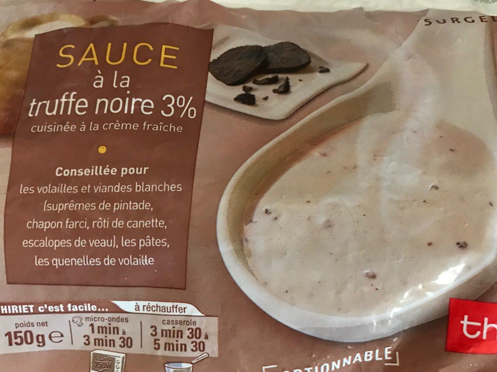 Sauce à la Truffe Noire 3% - Produit