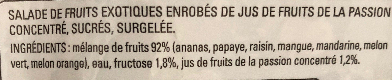 Salade de Fruits Exotiques - Ingrédients
