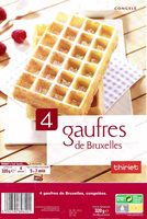 4 Gaufres de Bruxelles congelées - Product