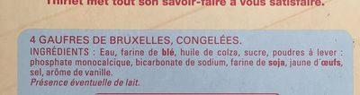 4 Gaufres de Bruxelles congelées - Ingredients