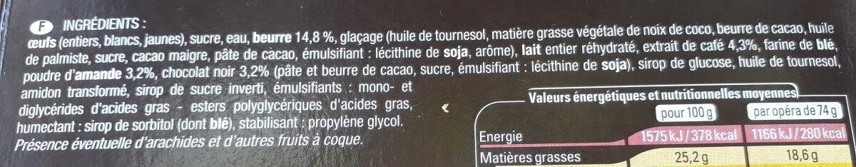 Opera - Ingrédients - fr