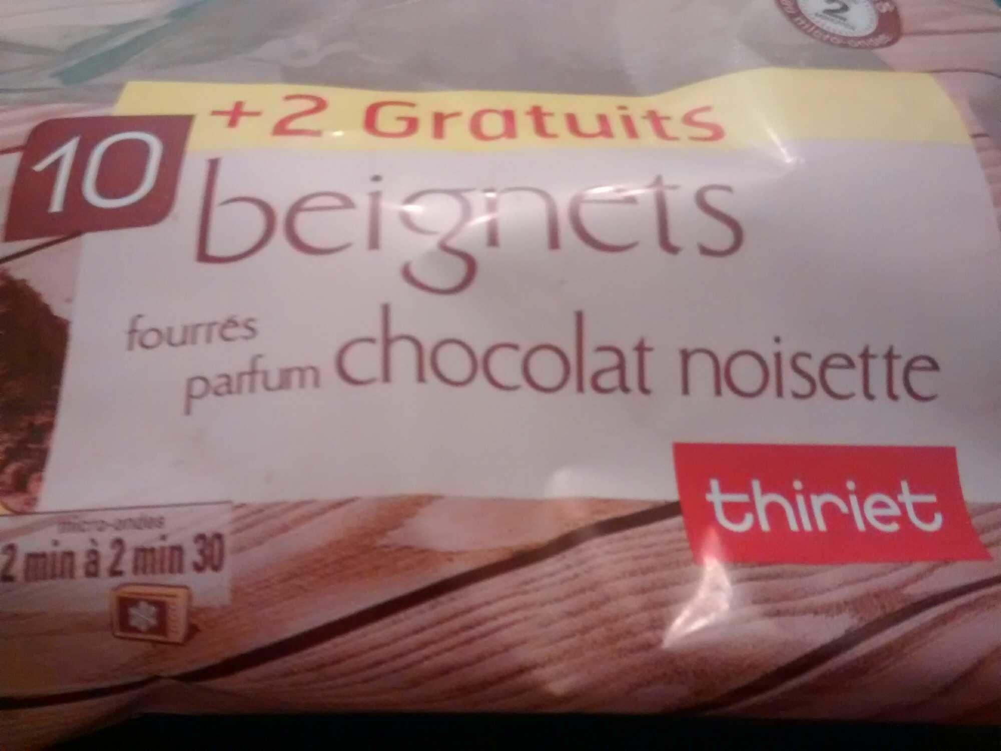 Beignets fourrés chocolat noisette - Produit
