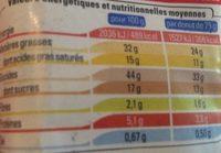 2 Maxi donuts fourrés - Informations nutritionnelles - fr