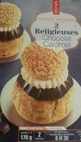 2 Religieuses chocolat caramel - Product - fr