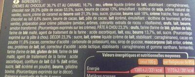 2 Religieuses chocolat caramel - Ingredients - fr
