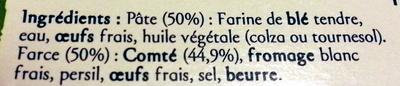 Ravioles du Dauphiné IGP label Rouge - Ingrédients