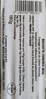 Buchette cendrée - Informations nutritionnelles - fr
