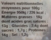 Fromage frais blanc x3 - Informations nutritionnelles - fr