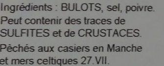 Bulots cuits - Ingredients