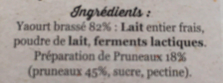 Le yaourt fermier - Ingrédients