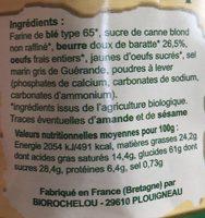 Palets Bretons - Biscuits Bio - Ingredienti - fr
