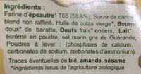 Sablés à l'Épeautre - Ingrediënten - fr
