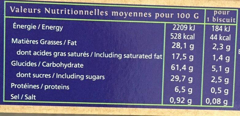 Galettes Fines de Bretagne - Informations nutritionnelles - fr