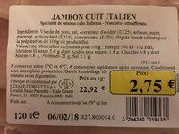 Jambon Cuit de Paris - Ingrédients