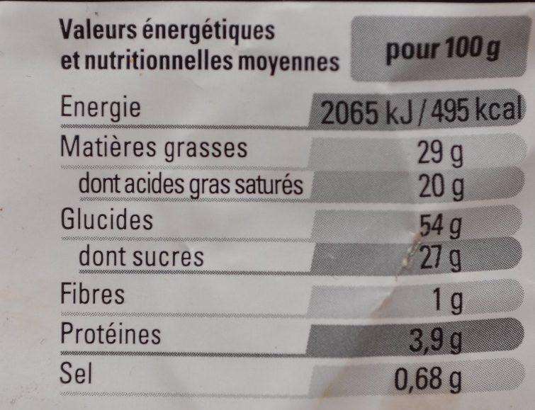 Kouign Amann Pur Beurre - Nutrition facts - fr