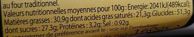 2 Kouign Amann Pur Beurre - Informations nutritionnelles