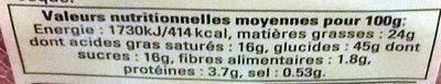 Galettes des Rois à la Pomme - Nutrition facts